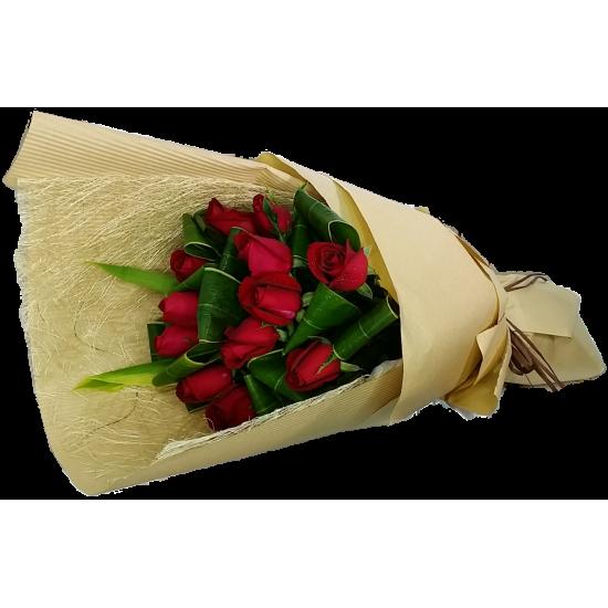 Elegant Love  One Dozen Roses Bouquet