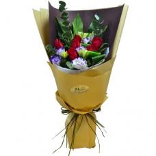 Half Dozen Roses Bouquet  Simple but Elegant